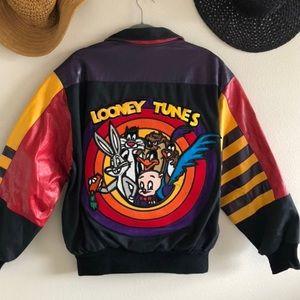 Looney Tunes Jeff Hamilton Leather Jacket